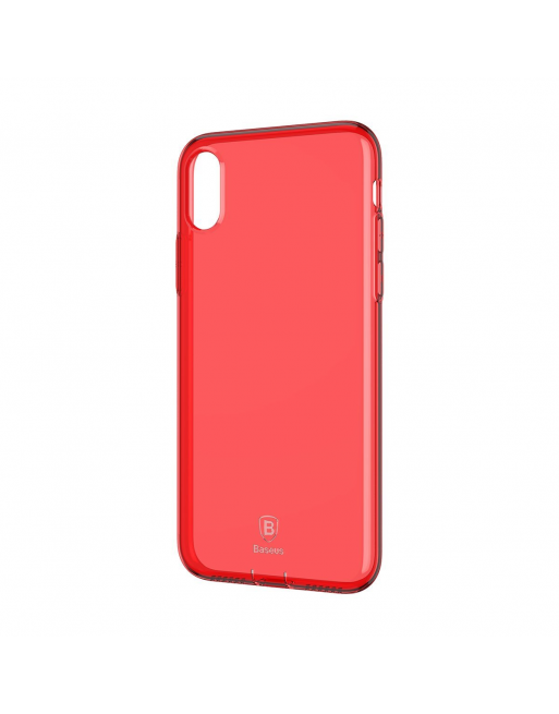 iPhone X/XS softcase - Jelly - Transparant/Rood
