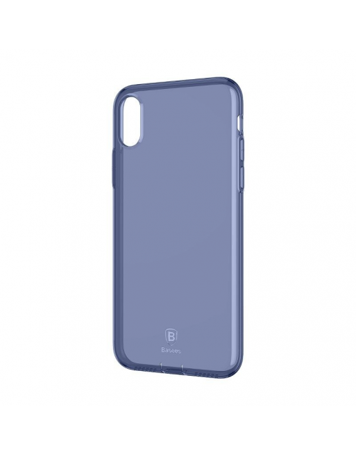 iPhone X/XS softcase - Jelly - Transparant/blauw