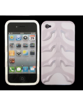 Fishbone cover  iPhone 4 - Wit
