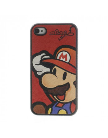 Mario Cover Rood Iphone 4/ 4s