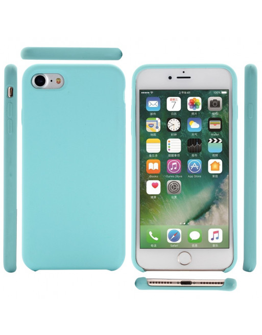 Silicone iphone 7 case  (iPhone 7/8/SE 2020) - cyaan