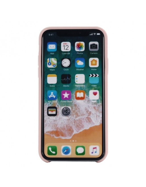 Silicone iPhone Xr case - roze