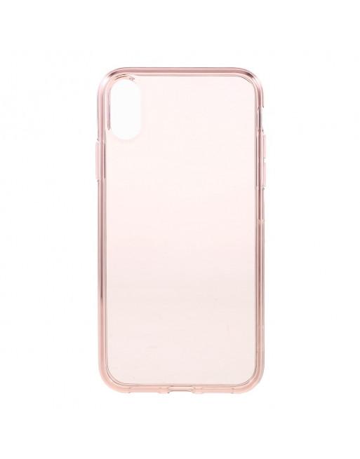 Flexibele softcase iPhone XR - transparant / roze
