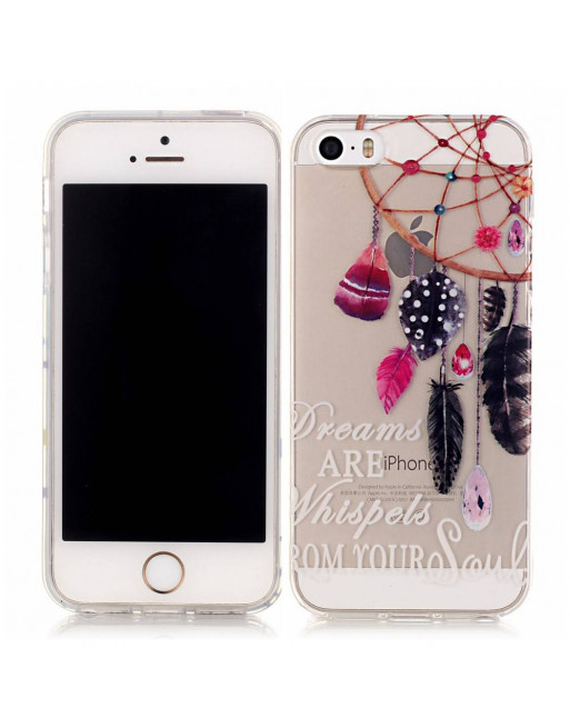 Transparant Softcase iPhone 5(s)/SE 2016 - Dreamcatcher