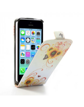 PU Leren Flipcase iPhone 5c...