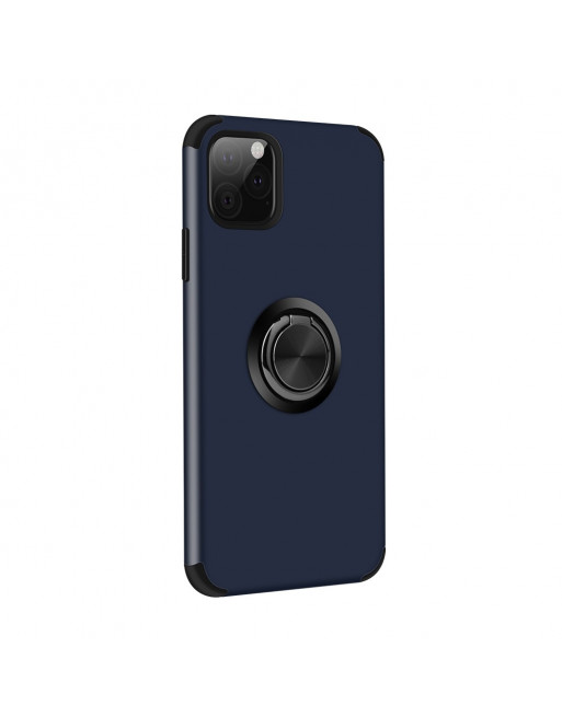 iPhone finger ring holder cover- iPhone 11 Pro-Blauw