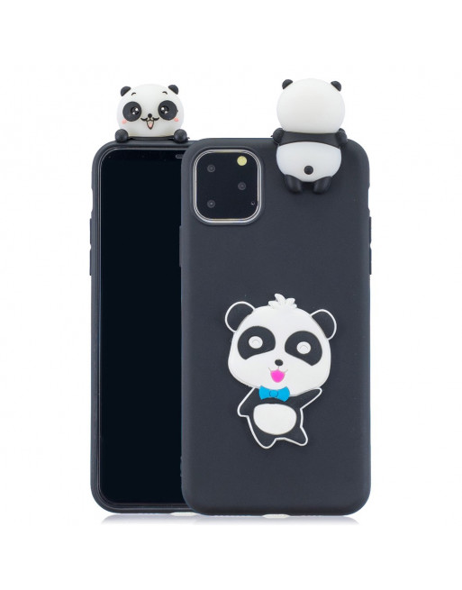iPhone 11 pro max cover - 3D pandabeer - Zwart