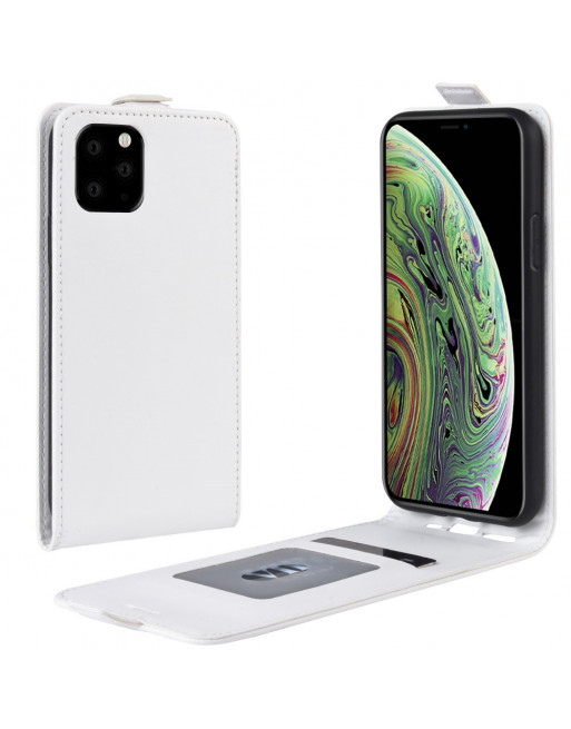 Lederen flip cover / flipcase - iPhone 11 Pro 5.8 inch  - Wit