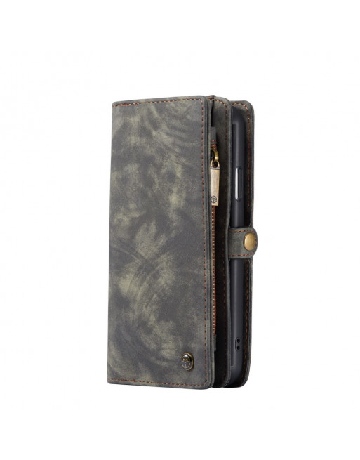2 in 1 Leren Wallet + Case - iPhone 11 6.1 inch - Grijs