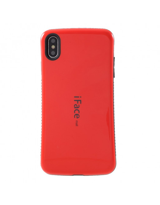 TPU hybride semi softcase voor iPhone XS Max 6.5 inch - ROOD - iFace