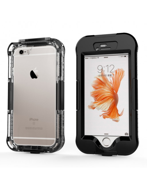 Waterproof iPhone 6S hoesje - 10M - Zwart
