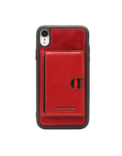Card Holder Softcase - Iphone XS max Hoesje - Rood